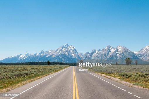 Road trip through Wyoming and Grand Teton National Park : Foto de stock