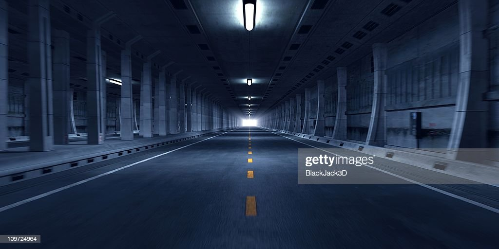 Road tunnel. : Stock Photo