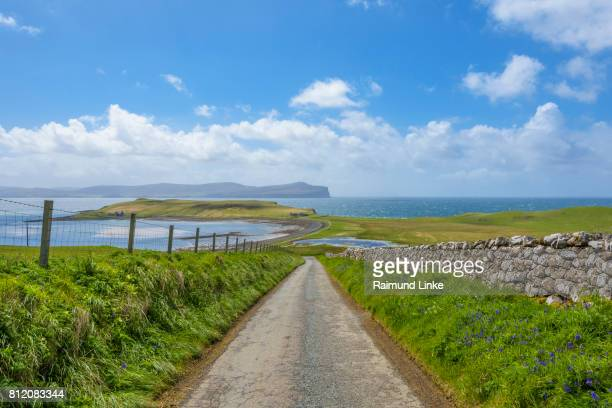 Road with coastal landscape, Isle of Skye, Scotland, United Kingdom