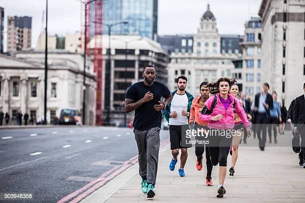 Roadrunners excercising in Central London