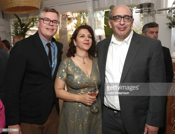 Roadside Attractions' Eric D'Arbeloff with Amazon Studios' Mary Ann Marino and Josh Kramer attend the 'Wonderstruck' Cannes After Party on May 18...