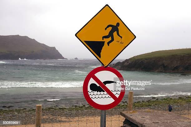 Roadsign at Clogher Head Ireland