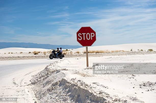 Roadsign at White Sands National Monument