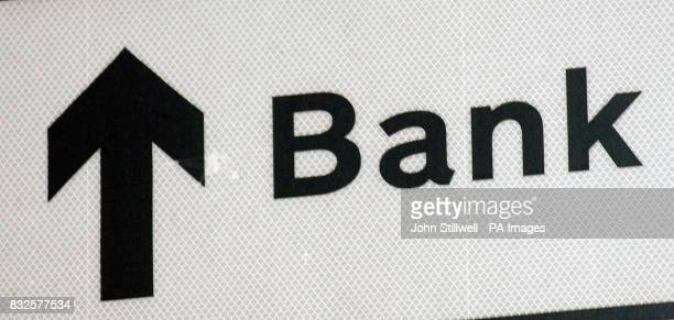 A roadsign signals the direction of the Bank of England Economists believe the Bank will raise interest rates from 475% to 5%