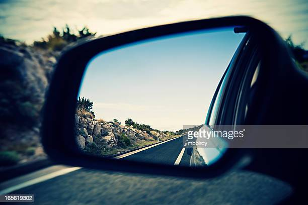 Roadtrip in rear side mirror