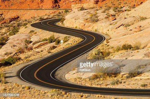 Roadway system of the Utah desert