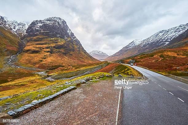 Roadway through Glen Coe Mountain Pass,Scotland