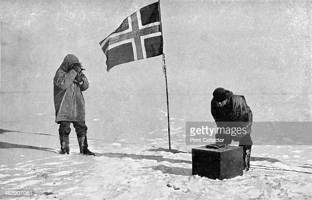 Roald Engelbrecht Gravning Amundsen Norwegian explorer at the South Pole 1911 Amundsen led the first expedition to reach the South Pole arriving in...