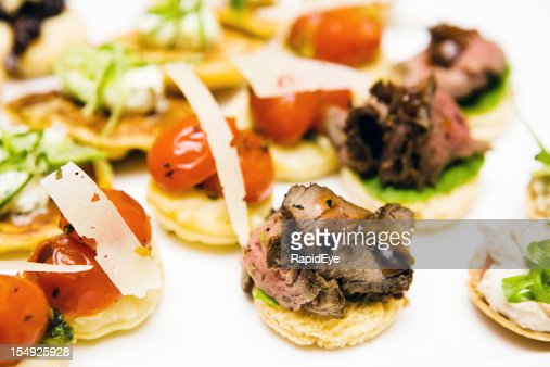Roast beef and cherry tomato canapes