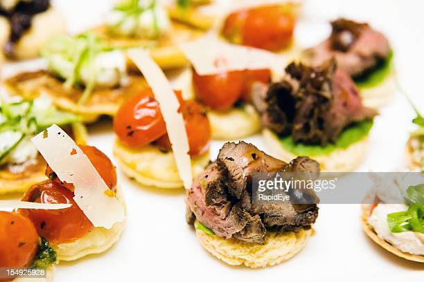 Food and drink industry stock photos and pictures getty for Roast beef canape