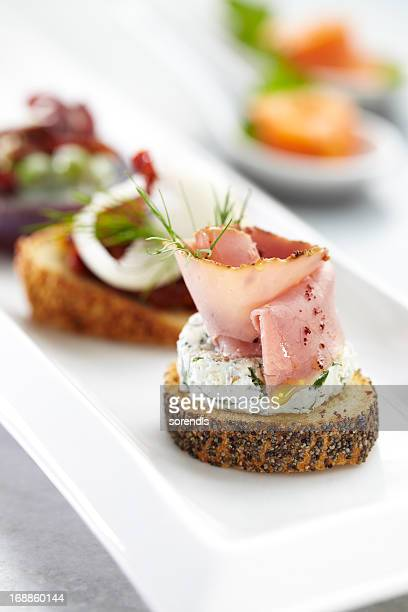 Roast beef canape