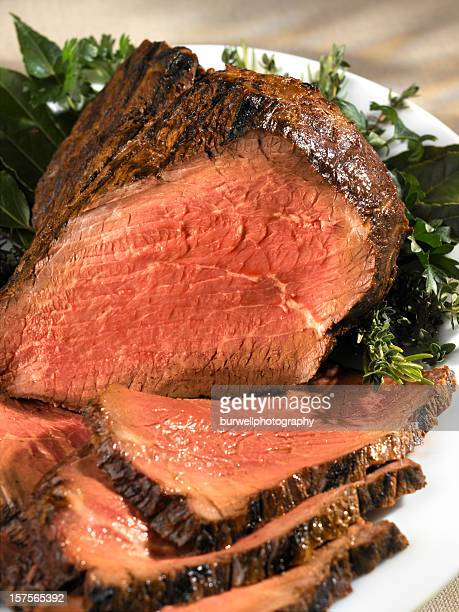 Roast Beef, carved, close-up