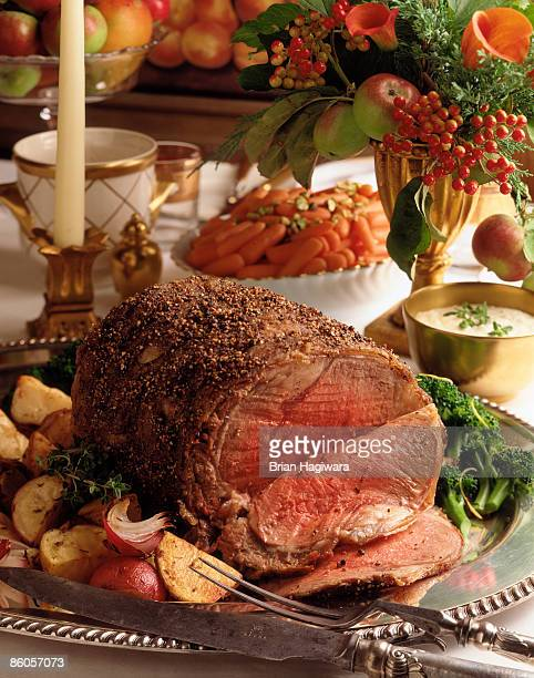 Roast beef holiday meal