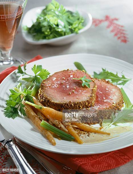 Roast beef with spicy crust