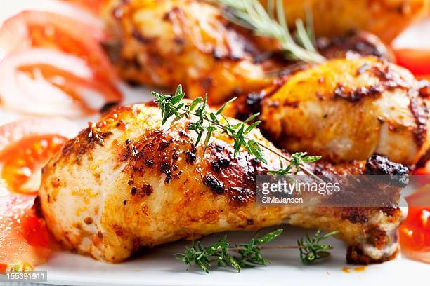 roast chicken legs and rosemary