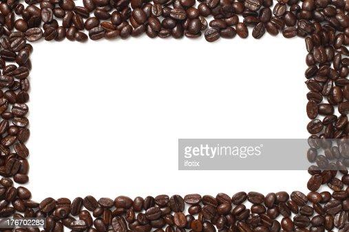 Coffee Bean Border ~ Roast coffee beans frame border stock photo getty images