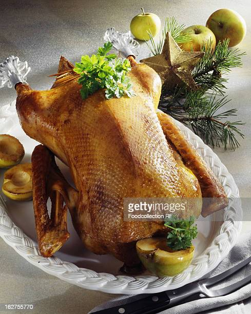 Roast goose with stuffing