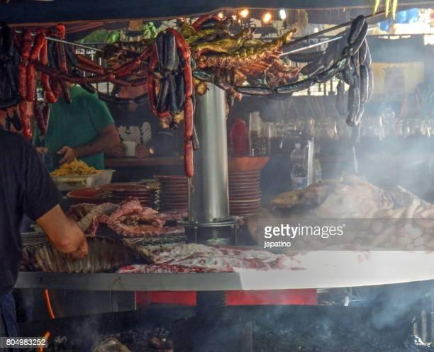 Roast in a street stall