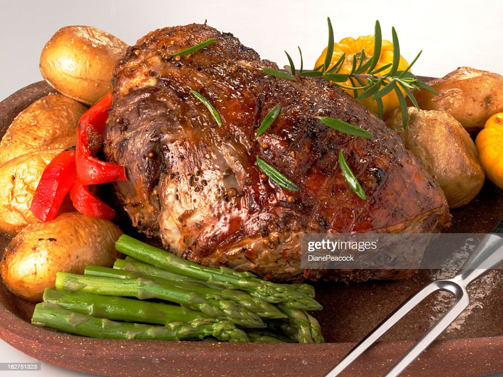 Roast Leg Of Lamb Stock Photo | Getty Images
