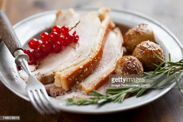 Roast pork with roast potatoes