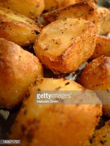 Roast potatoes : Stock Photo