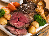 Roast Rib eye of British Beef with all the Trimmings