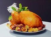 Roast turkey and potatoes