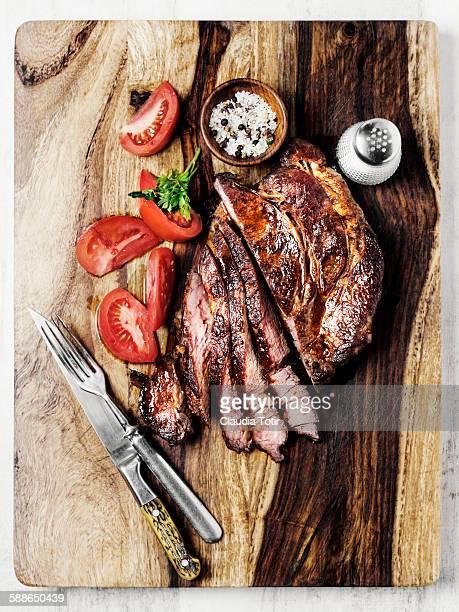 Roasted beef chuck steak