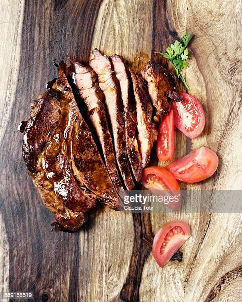 Roasted beef chuck steak