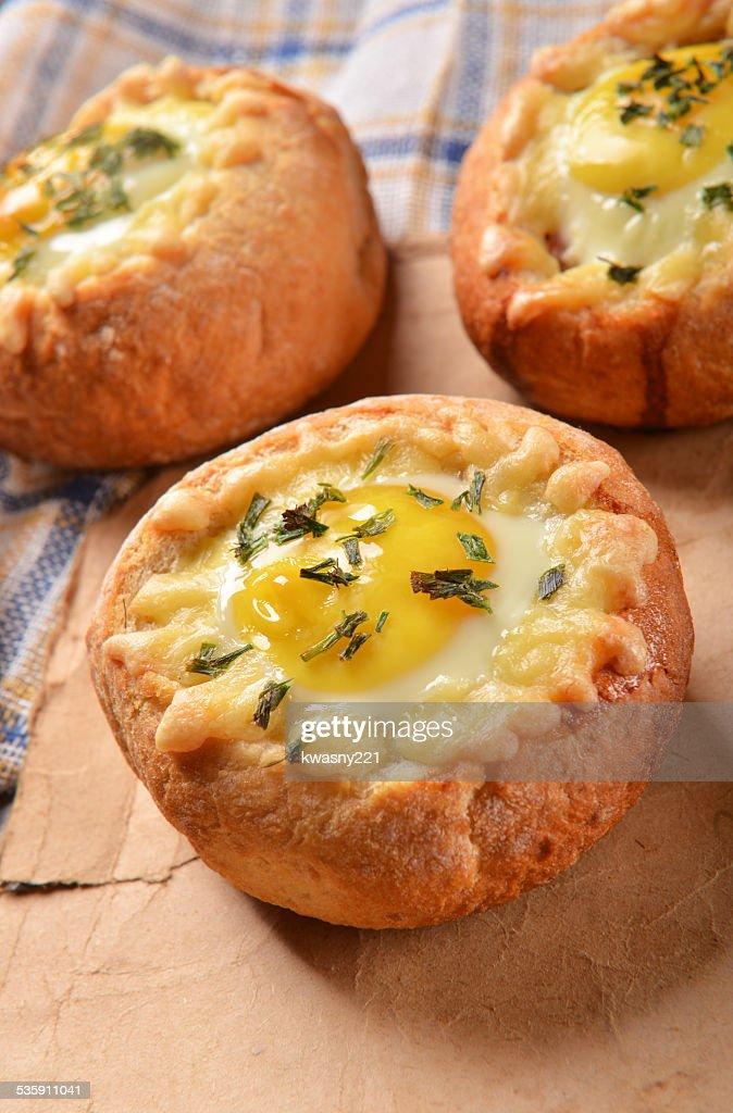 Roasted buns : Stock Photo