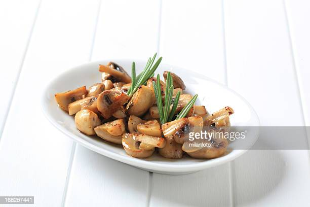 Roasted button mushrooms
