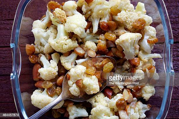 Roasted Cauliflower With Almonds and Golden Raisins