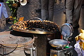 Roasted chestnuts on the Spanish steps, Rome, Italy