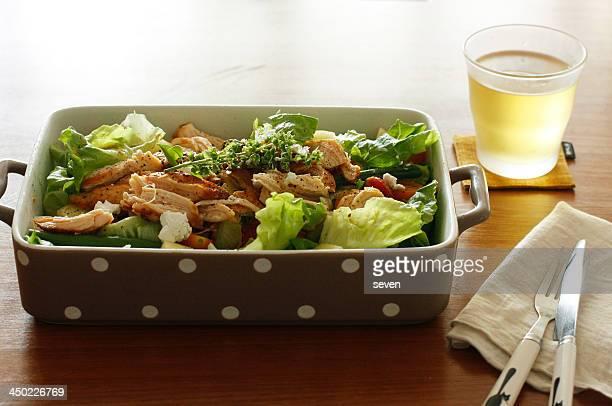 Roasted chicken breast salad