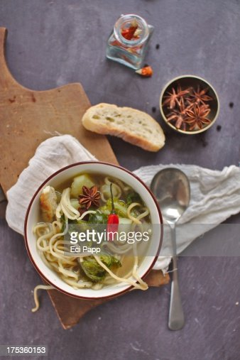 Roasted Chicken Broth Stock Photo | Getty Images
