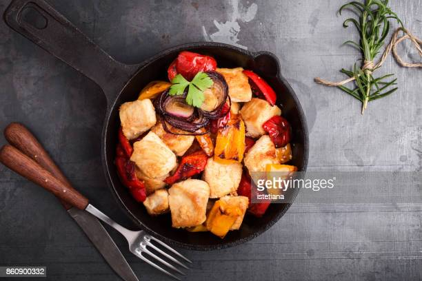 Roasted chicken fillet  with bell pepper