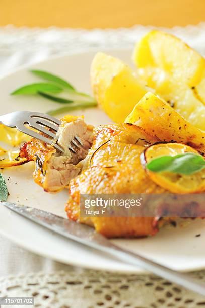 Pollo arrosto a pranzo