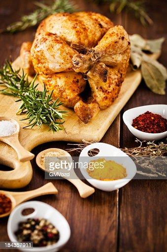 Roasted Chicken : Stock Photo