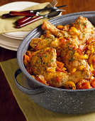 Roasted Chicken with Tomato and Onion