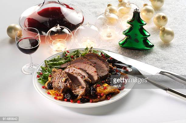 Roasted Christmas lamb