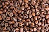 Roasted Coffee Beans background, Brown coffee beans for can be used as a background