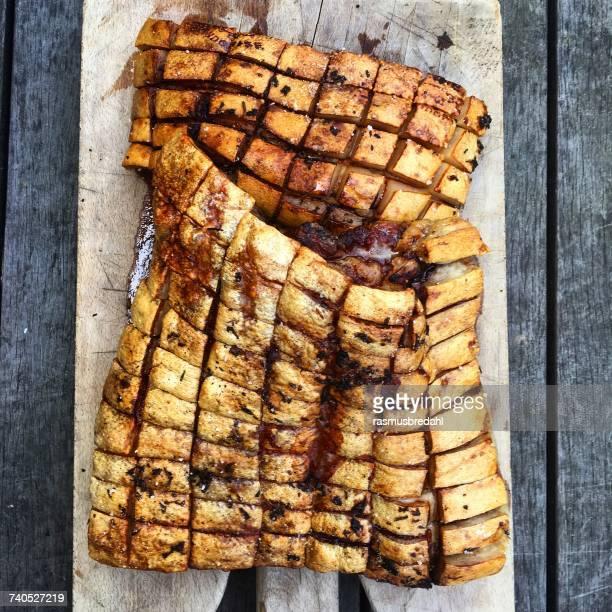 Roasted leg of pork