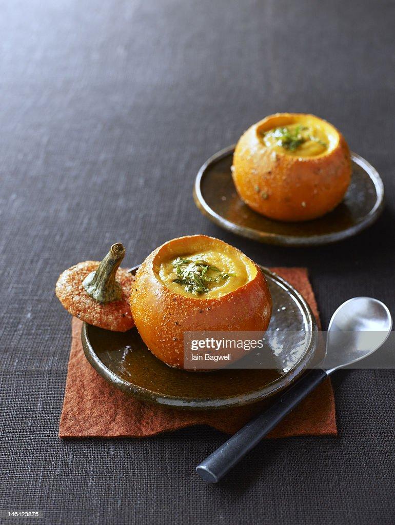 roasted pumpkin soup : Stock Photo
