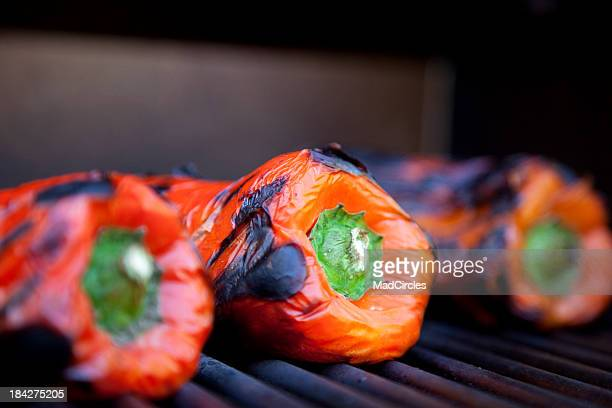 Roasted Red Peppers on the Grill