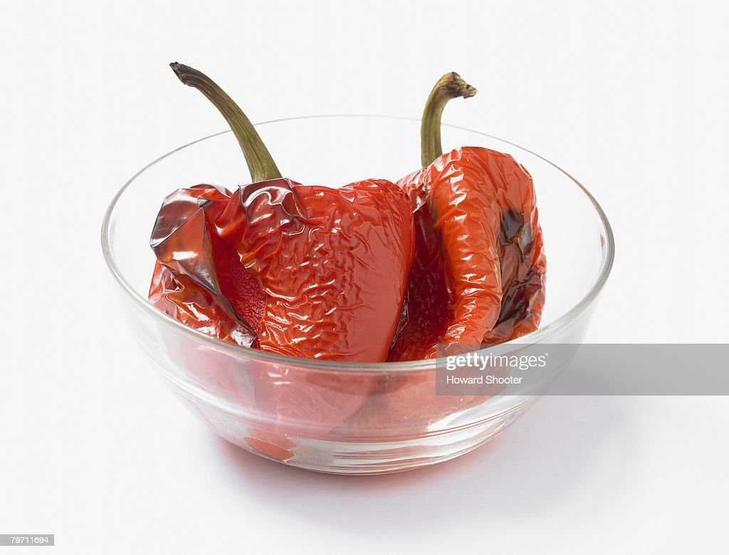 Roasted red peppers : Stock Photo