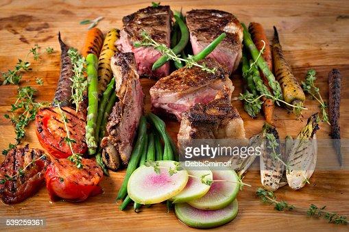 Roasted Ribeye Steak And Vegetables