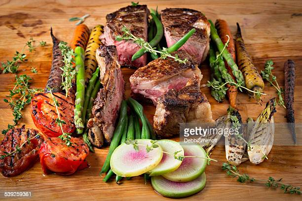Roasted Ribeye Steak And Vegetables