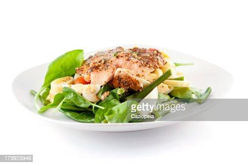 焼きサーモンのサラダ