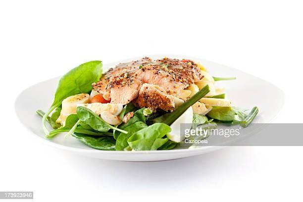 Gebratener Lachs-Salat
