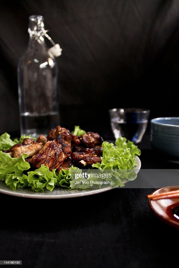Roasted soy spareribs : Stock Photo